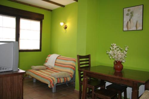 Zona de estar de Apartamentos Rurales Sierra de Béjar