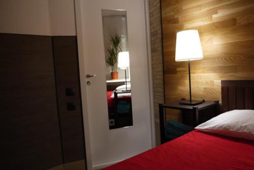 Кровать или кровати в номере Стерео Хостел