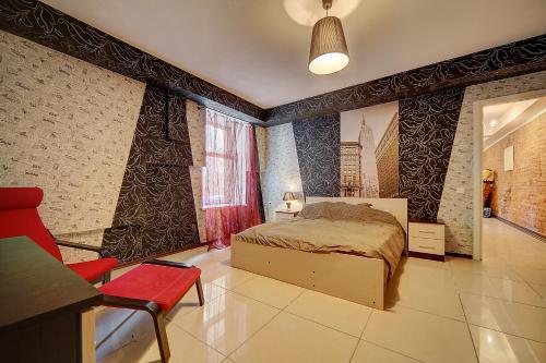 Кровать или кровати в номере Home4day Saviour on the Blood Church 2