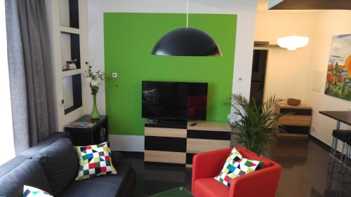 TV/Unterhaltungsangebot in der Unterkunft Apartment Rhein Main