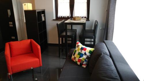 Ein Sitzbereich in der Unterkunft Apartment Rhein Main