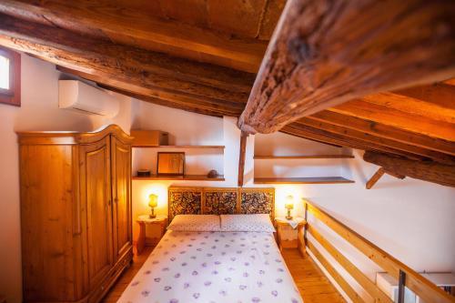 Cama o camas de una habitación en Apartment San Niccolò