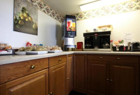 A kitchen or kitchenette at Americas Best Value Inn Macomb