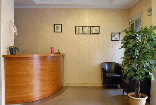 The lobby or reception area at Hotel Borja