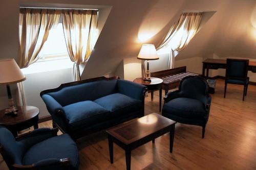 Zona de estar de Hotel Santiago