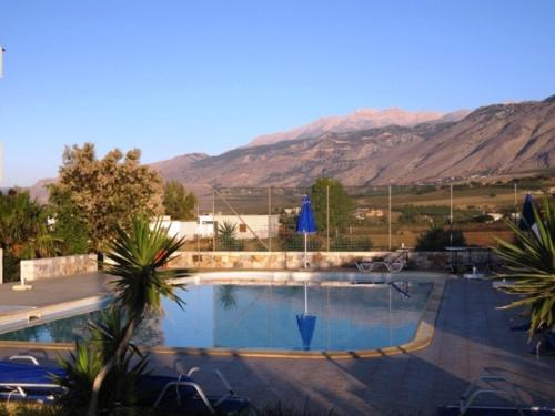 A view of the pool at Flisvos Apartments or nearby