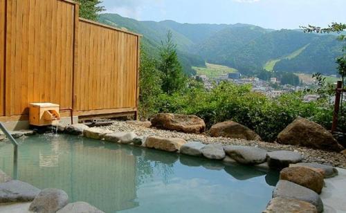 The swimming pool at or near Nozawa Grand Hotel