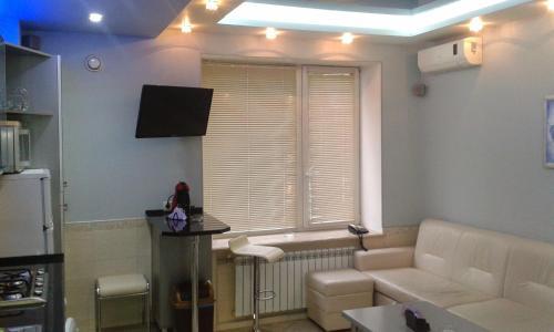 Télévision ou salle de divertissement dans l'établissement Downtown Apartments Otakara Yarosha str
