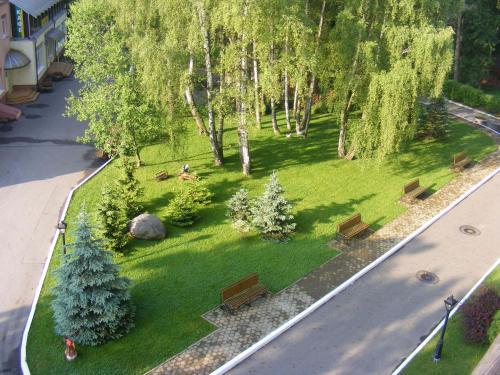 Вид на сад в Санаторий Янтарь или окрестностях