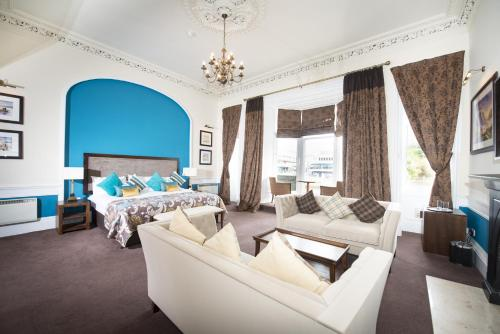 A seating area at Columba Hotel Inverness by Compass Hospitality