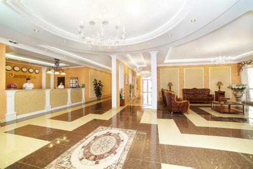 The lobby or reception area at Emerald Hotel