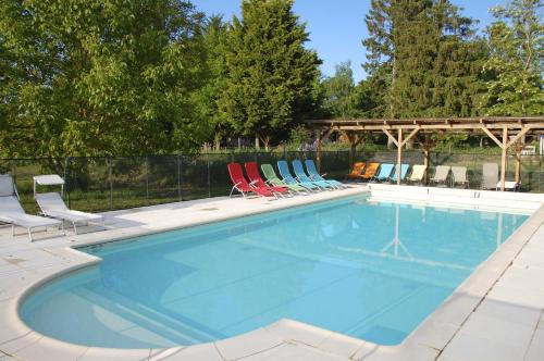 The swimming pool at or near Le Mas d'en Haut