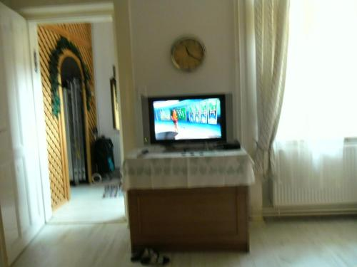 A television and/or entertainment center at Lónyay Room