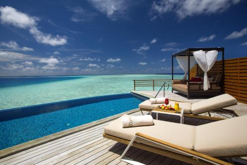 The swimming pool at or near Baros Maldives