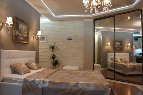 Кровать или кровати в номере Апартаменты Motel 74