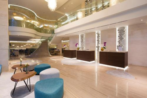 The lobby or reception area at Liberty Central Nha Trang Hotel
