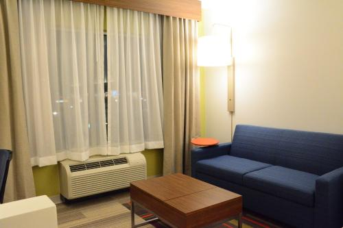 Ein Sitzbereich in der Unterkunft Holiday Inn Express & Suites Lexington Park California