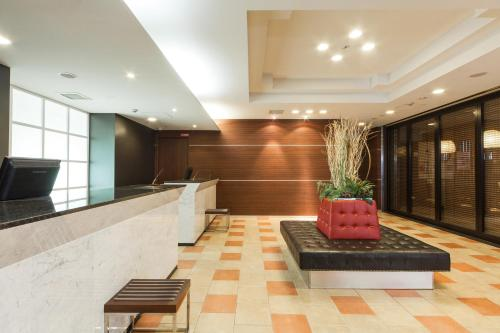 The lobby or reception area at HOTEL MYSTAYS Sakaisuji Honmachi