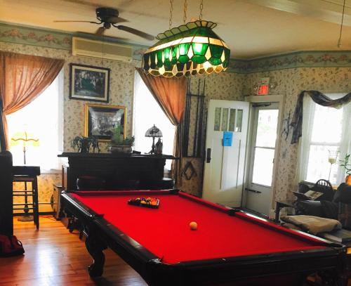 A pool table at The Inn at the Shore
