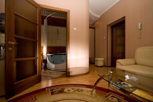Гостиная зона в Гостиница Золотой Стрелец