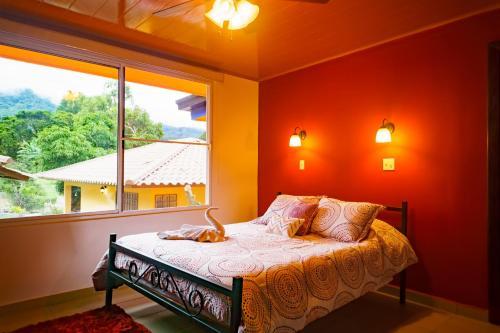 Una habitación en Hotel Central Boquete