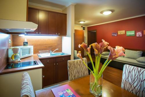 A kitchen or kitchenette at City-Hotel Budapest