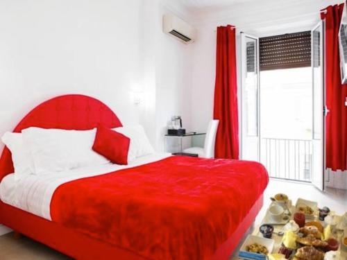 Un ou plusieurs lits dans un hébergement de l'établissement Vatican Grand Suite