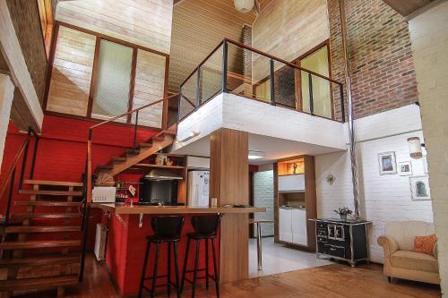 The lounge or bar area at Quinta dos Janssen, a sua casa na Serra Gaúcha