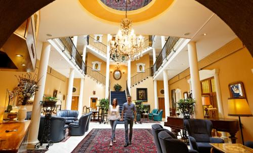 The lobby or reception area at Hotel Stenitzer