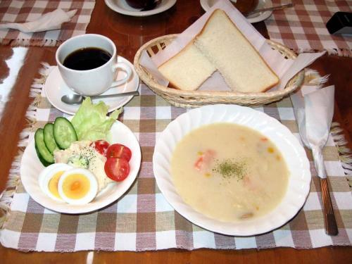 Breakfast options available to guests at Sapporo Inn Nada