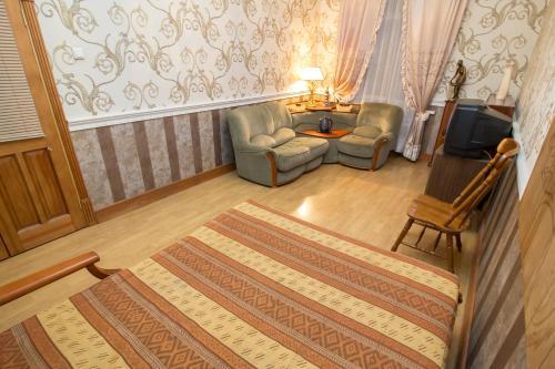 Гостиная зона в Гостиница Авиамоторная