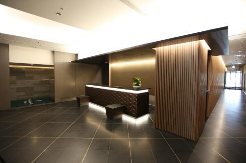 The lobby or reception area at Urban Hotel Kyoto Nijo Premium
