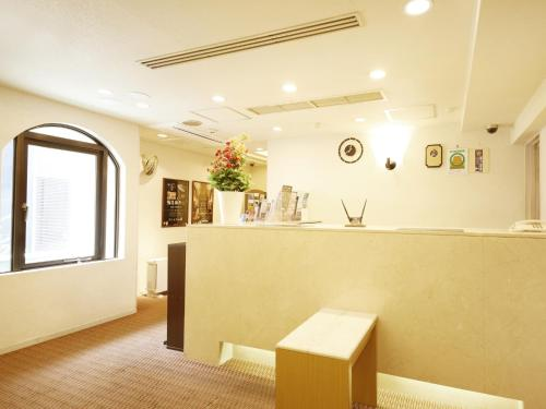 The lobby or reception area at Sun Hotel Nagoya Nishiki