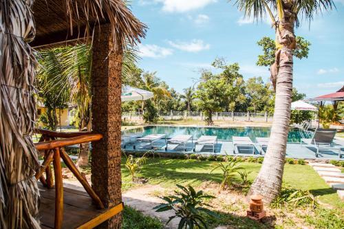The swimming pool at or near Ninila Fruit Farm Bungalow