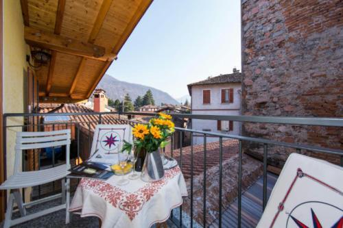 Ein Balkon oder eine Terrasse in der Unterkunft La Romantica