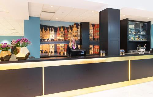 The lounge or bar area at Thon Hotel Rosenkrantz Bergen