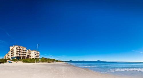 A beach at or near the aparthotel