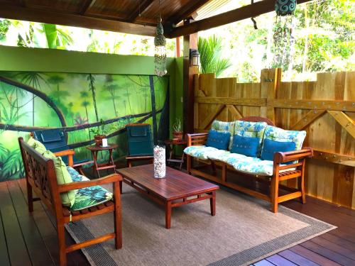 A seating area at Physis Caribbean Bed & Breakfast