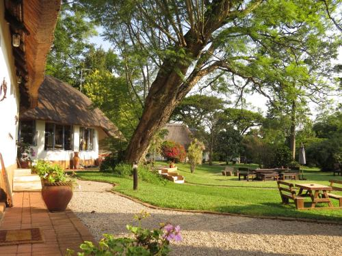 A garden outside Thokozani Lodge