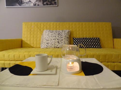 A seating area at Apartamenty Polna