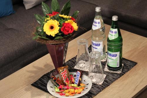 Getränke in der Unterkunft Apartment Haus Sternenhimmel
