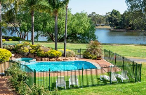 A view of the pool at Clare Country Club or nearby