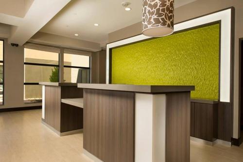 The lobby or reception area at Hilton Garden Inn College Station
