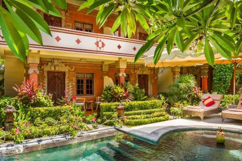 The swimming pool at or near Rama Shinta Hotel Candidasa