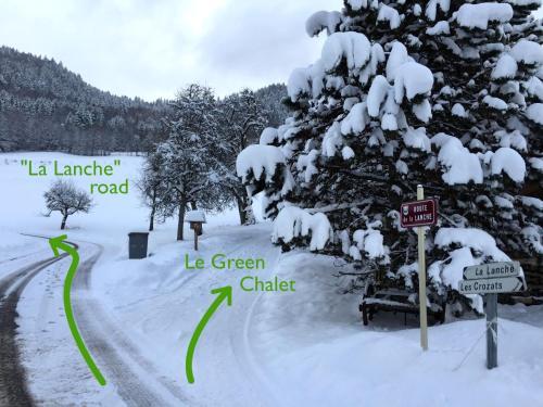 L'établissement Le Green Chalet en hiver