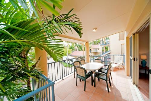 A balcony or terrace at at Beach Court Holiday Villas