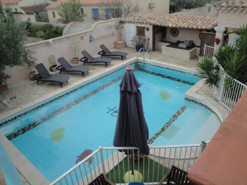 A view of the pool at Villa Lombrine or nearby