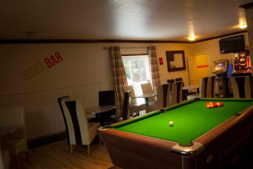 A pool table at Dalgair House Hotel
