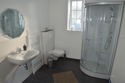 Ein Badezimmer in der Unterkunft Borstel - Alte Schmiede