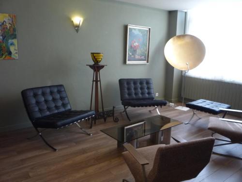 Coin salon dans l'établissement Hotel de la Plage